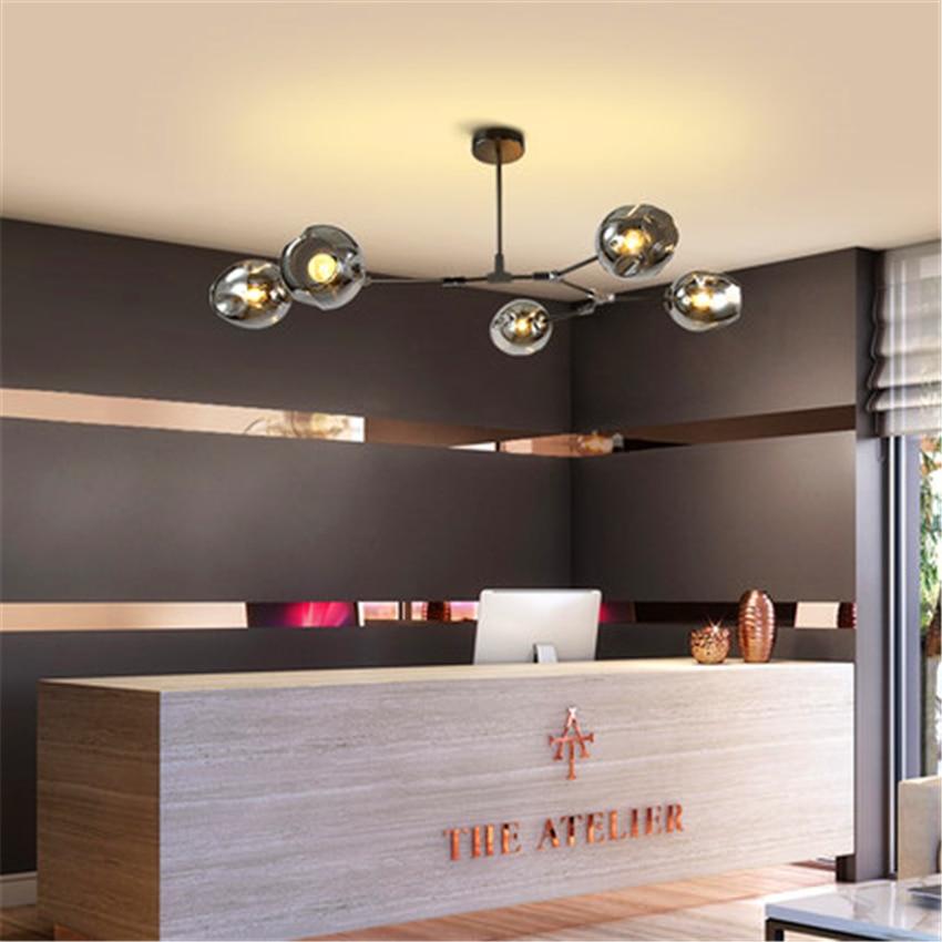 Nowoczesny szklany LOFT LED żyrandol LED lampy wiszące światła włoski lampy wiszące jadalnia kuchnia Avize Luminaria oprawy w Wiszące lampki od Lampy i oświetlenie na