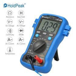 Цифровой мультиметр HoldPeak, Измеритель постоянного/переменного напряжения, измеритель сопротивления, температуры, батареи, диода, тестер неп...