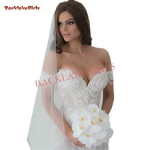 Custom Size Lace Pearls Beaded Wedding Dresses Floor Length
