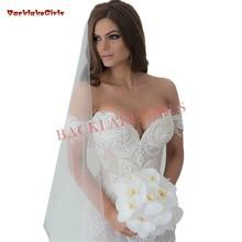 Custom Size Lace Pearls Beaded Wedding Dresses Floor Length
