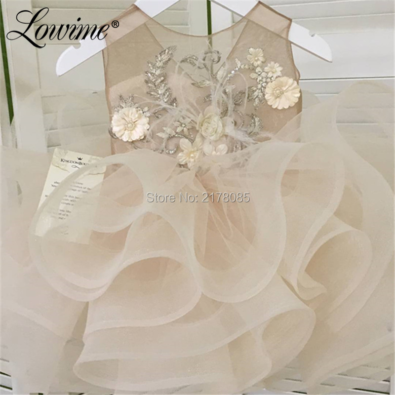 Flower     Girl     Dresses   Ball Gown Communion   Dresses   Tiered Pageant   Dresses   For   Girls   2019 Vestidos De Comunion Robe Soiree Fille