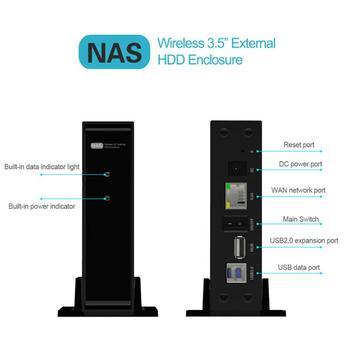 Unidade externa de estado sólido de 10TB USB3.0 90MB / S com armazenamento de rede WAN de metal inteligente NAS Disco rígido de nuvem sem fio 1