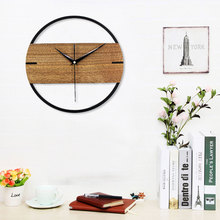 3D Clock On The Wall Clock Wooden Modern Design Wall Clock Wood Retro/Vintage Wall Clocks/Watches Home Decor For Living Room