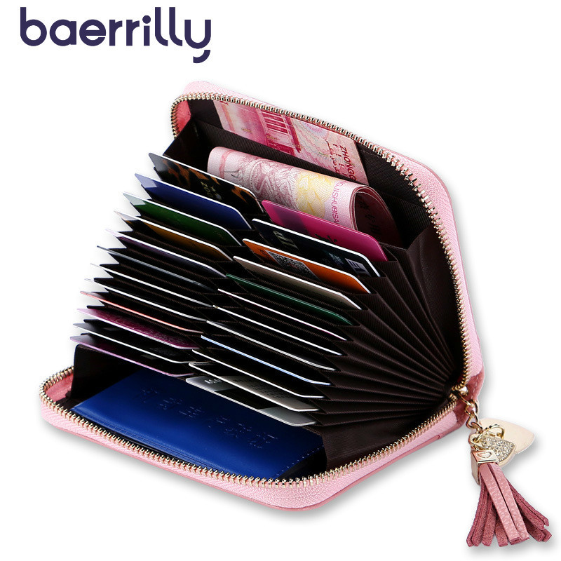High-quality Wallets Genuine Leather Credit Card Holders Coin Purse Women Clutch Bag Short Purses Money Pocket Cartera Mujer