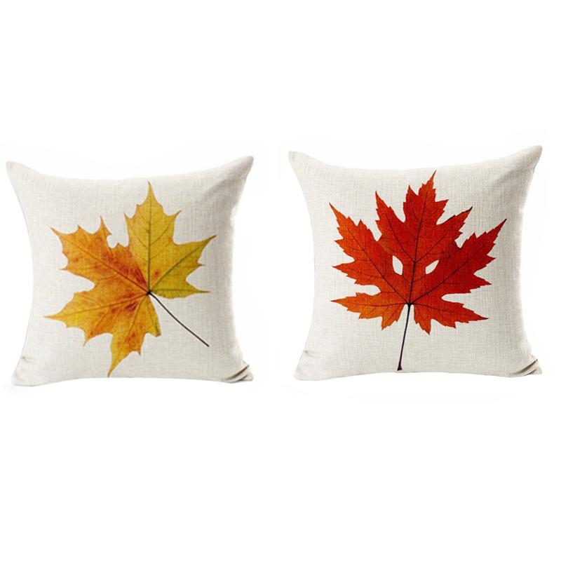 2 Pcs Maple Leaf Modello Coperte E Plaid Coperture Per Cuscini Accessori Decorazione Della Casa