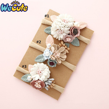 Wecute Baby Headband Bandeau Bebe Fille Princess Style  Fashion Flower Hair Band Infant Toddler Kids Girl Accessories - discount item  20% OFF Kids Accessories