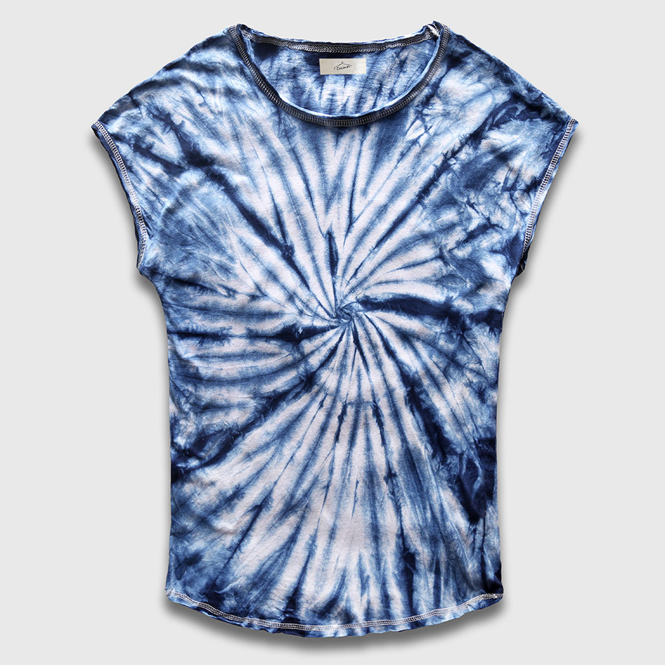 9a2227abfe19 Novelty Tie Dye T Shirt for Men Crew Neck Sleeveless Male Top Tees Hip Hop  Cotton Fashion Tshirt Round Hem