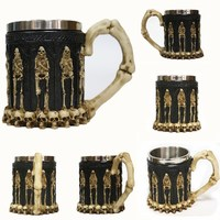 Skull Crypt Tankard Decorative Only3D Stereo Skull Ghost Head Mug
