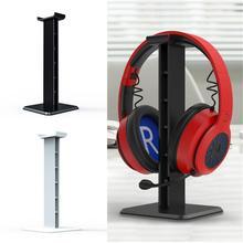 Headphone Holder Head Mounted Hook Display Shelf Headphone Bracket Hanger Support Bracket Black White 10cm*10cm*25cm New