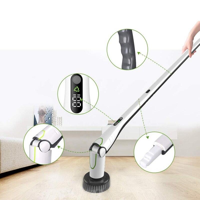 1 Set brosse de nettoyage électrique nettoyeur maison balayage poussière stériliser Smart lavage Mopping pour voiture salle de bains cuisine outil de nettoyage