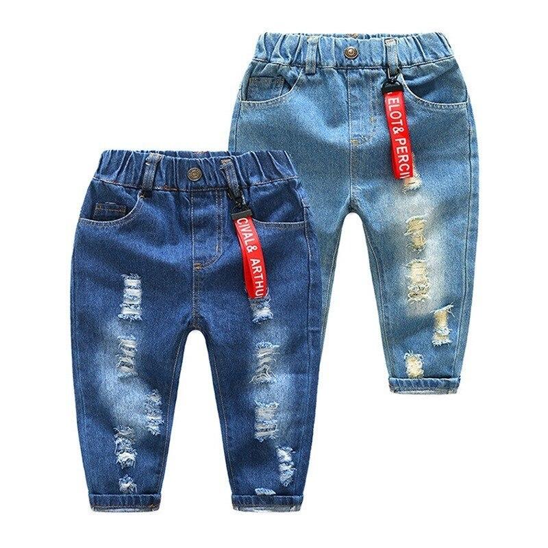 9cd587b1c Pantalones vaqueros de cintura elástica para niños, pantalones de mezclilla  para niños y bebés, ropa para niños de Primavera de 2019
