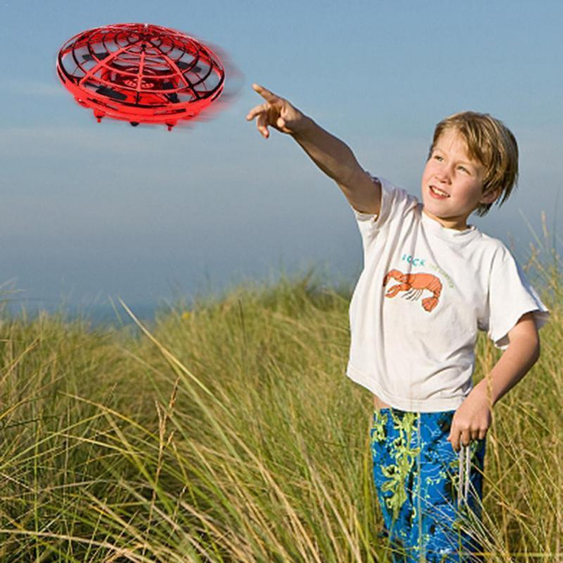 Anti-collision Hand UFO Ball Flying Aircraft RC Toys Led Gift Suspension Mini Induction Drone For Children Boys hand induced hovering floating flight novelty infrared sensor flying saucer ufo hand movements kids toys mini drone led flash