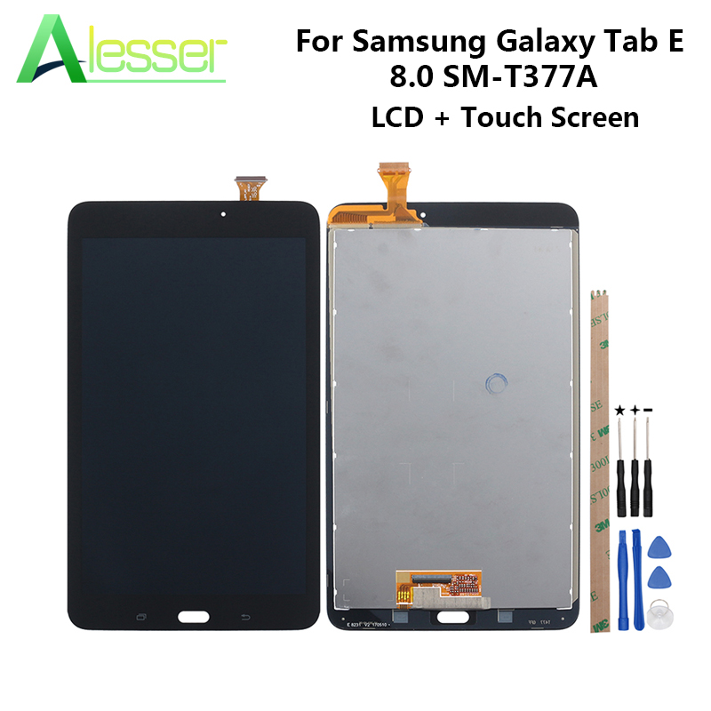 Alesser For Samsung Galaxy Tab E 8.0 SM-T377A SM-T377 T377V T377P/T LCD Display Touch Screen Screen Digitizer +Tools +AdhesiveAlesser For Samsung Galaxy Tab E 8.0 SM-T377A SM-T377 T377V T377P/T LCD Display Touch Screen Screen Digitizer +Tools +Adhesive