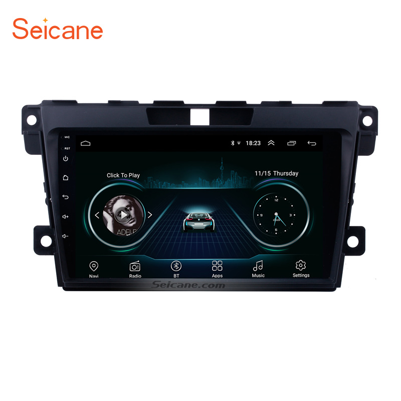 Seicane <font><b>2Din</b></font> Android 8.1 9 inch Car Radio Audio GPS Tochscreen Multimedia Player Wifi Head Unit For <font><b>MAZDA</b></font> <font><b>CX</b></font>-<font><b>7</b></font> 2007-2013 2014 image