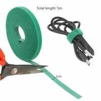 5m * 1cm Nylon Kabelbinder Multifunktions Verschluss Mehrweg Magische Band Nylon Straps Power Draht Schleife Band