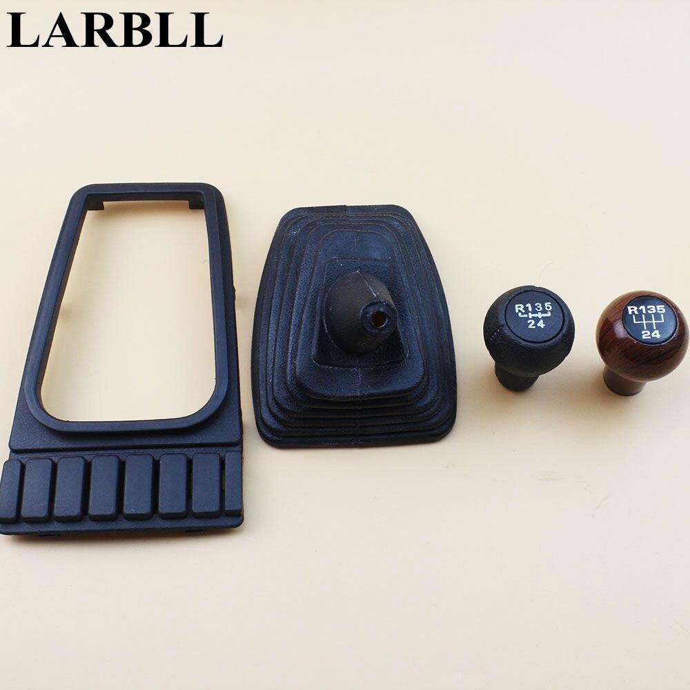 Larbll estilo do carro engrenagem shift gaiter boot capa lidar com botão para vw golf mk2 ii jetta ii mk2
