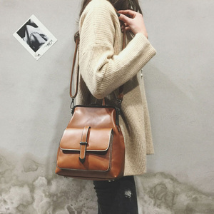 Image 4 - Plecak szkolny dla kobiet plecak skórzany mały Mochila Feminina torebka Vintage na ramię kobieta Mini plecak szkolny Sac A Dos