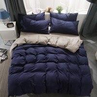 Home Textile Simple Solid Color 3/4 Pcs Bedding Set Microfiber Bedclothes Men/women Bed Linens Duvet Cover Set Bed Sheet