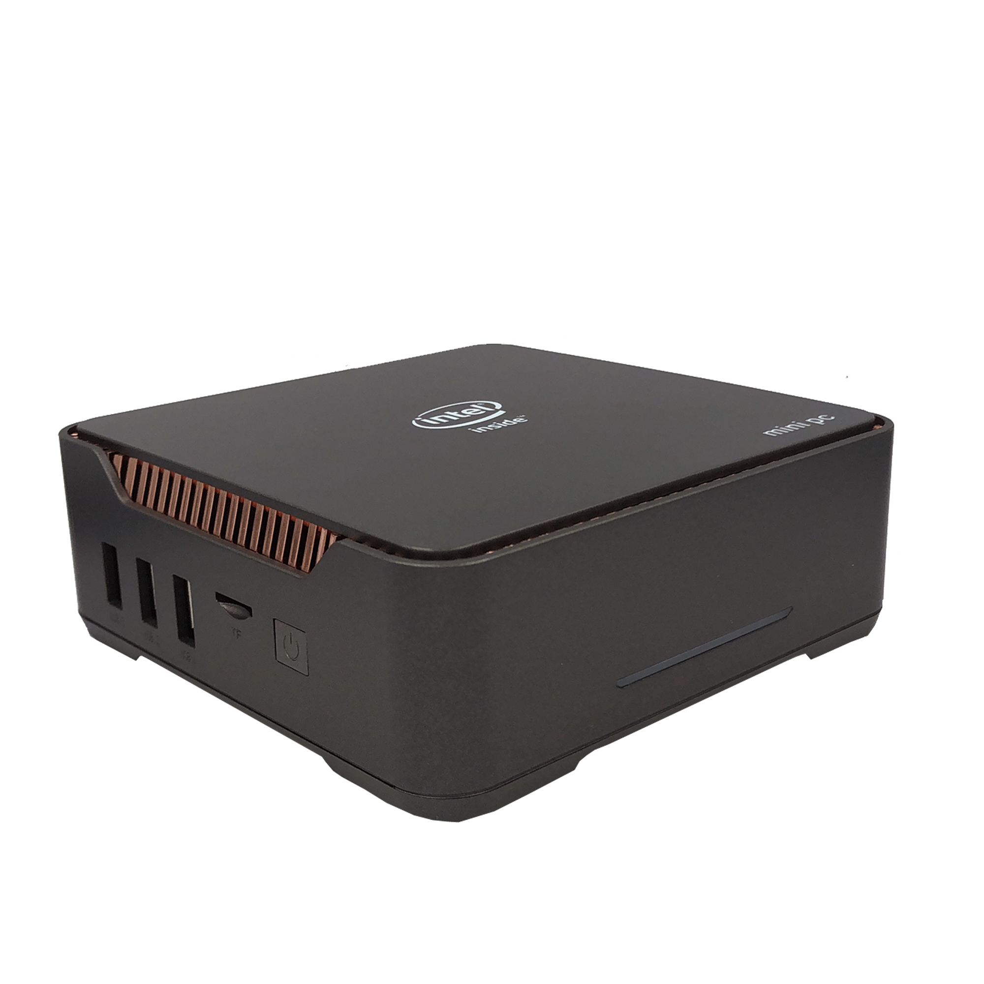 AK3V Mini PC Intel Celeron J3455 6GB 64GB Windows 10 with Microphone Cortana Extended HDD dual