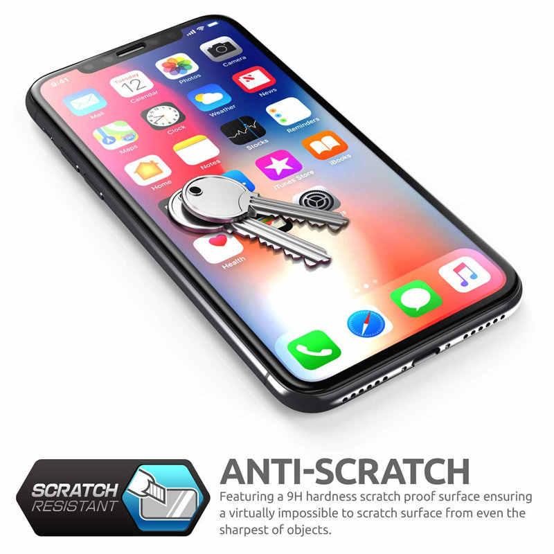 """Para iPhone Xs Max 6,5 """"SUPCASE Anti-Scratch Premium 3D borde curvo Anti-impacto Protector de pantalla de vidrio templado con marco de guía"""