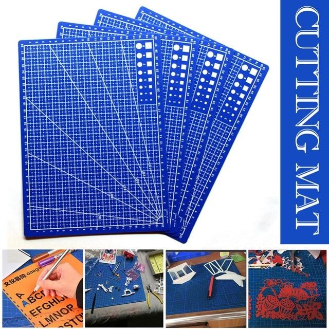 A4/30*22 cm de las líneas de cuadrícula de coser de corte de tarjeta de tela de cuero tablero de papel hecho a mano accesorio Doble -Placa de corte lateral