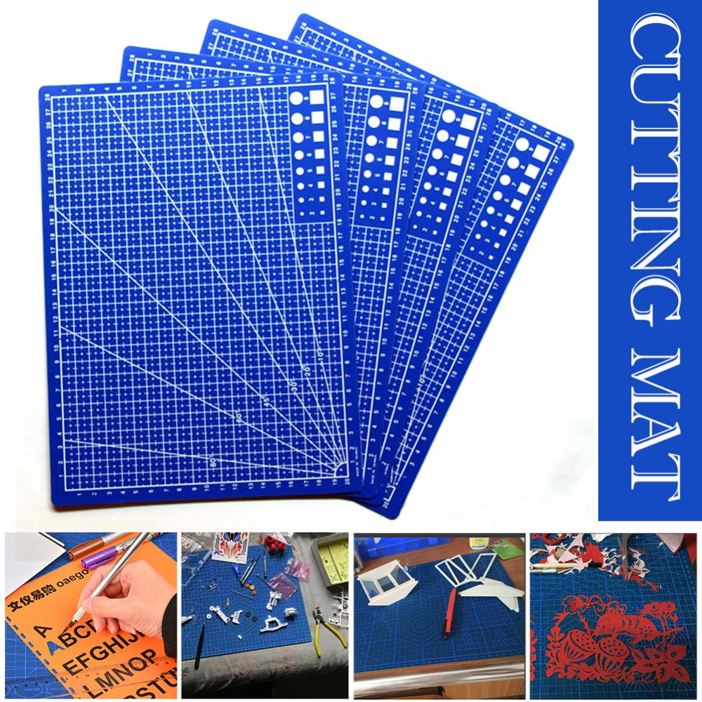 A4 /30*22cm Grid Lines Sewing Cutting Mat Craft Card Fabric Leather Paper Board Handmade Accessory Double-sided Cutting Plate