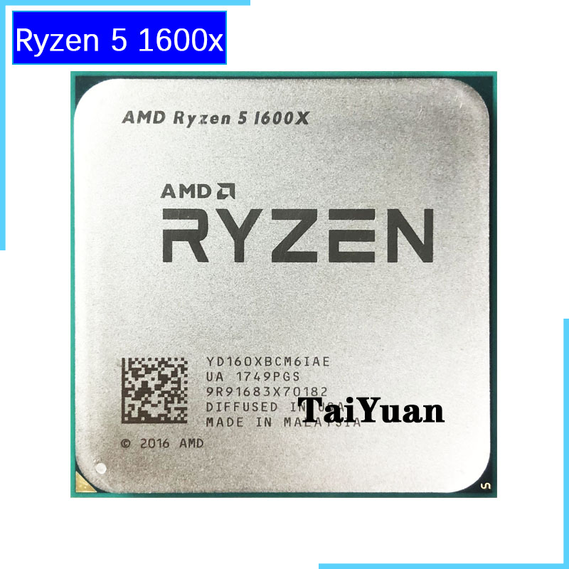 AMD Ryzen 5 1600X R5 1600X 3 6 GHz Six Core Twelve Thread CPU Processor 95W