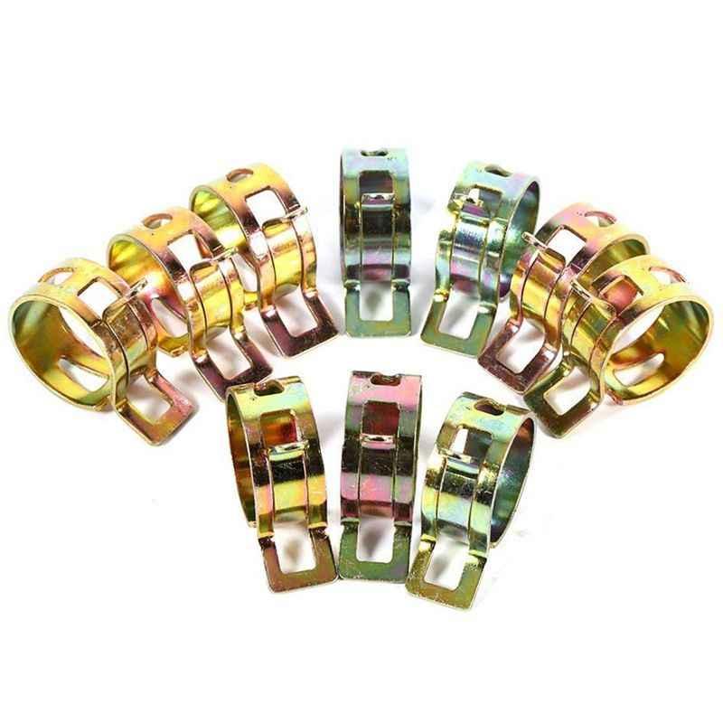 Пружинные зажимы для крепления топливных, воздушных или водяных труб 100 штук 10 размеров