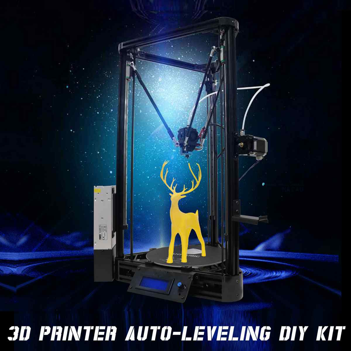 2019 nouveauté 3D Imprimante Poulie 180*300mm bricolage FDM Auto-Nivellement Haute Puissance 3D Drucker Imprimante kit de bricolage