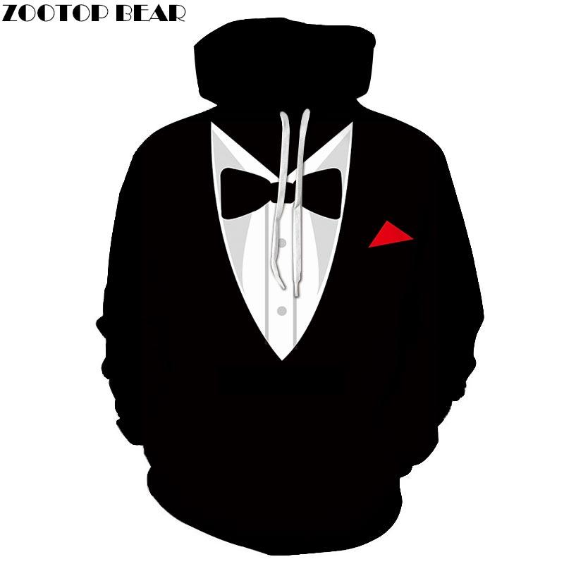Bow Tie 3D Print Hoodies Sweatshirts Men Women Tracksuit Pullover Streetwear Casual Hoody Coat Fashion 6XL Drop Ship ZOOTOP BEAR