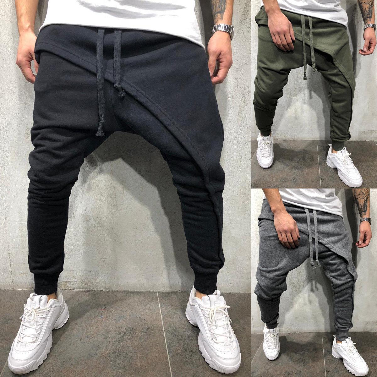 New Mens Casual Jogger Sportwear Baggy Harem Pants Slacks Trousers Sweatpants US