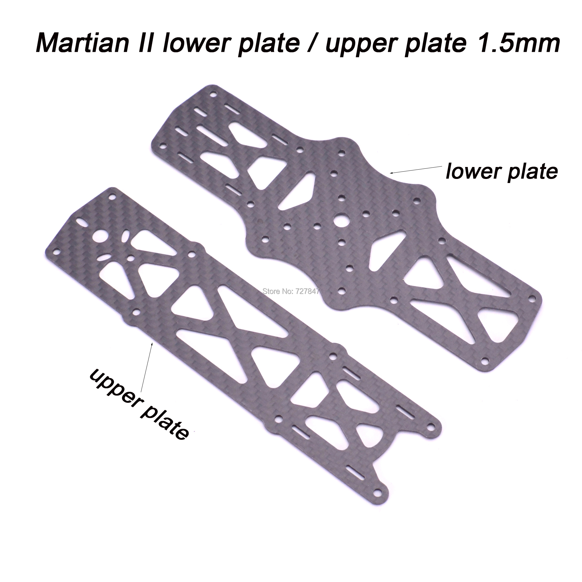 Reptile Martian II 1.5mm Top Upper / Bottom Lower Board Plate Spare Part for Martian II RC Drone FPV Accessories