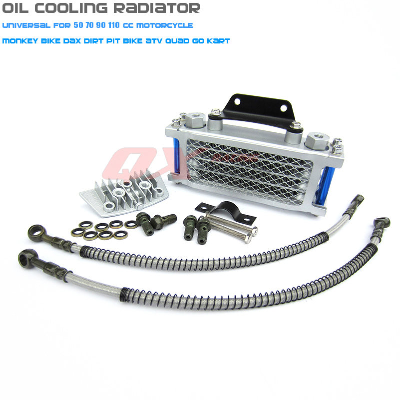 High Qualtiy Oil Cooling Cooler Radiator For 50cc 70cc 90cc 110cc Dirt Bike Pit Bike monkey bike DAX pocket bike ATV motorcycle in Engine Cooling Accessories from Automobiles Motorcycles
