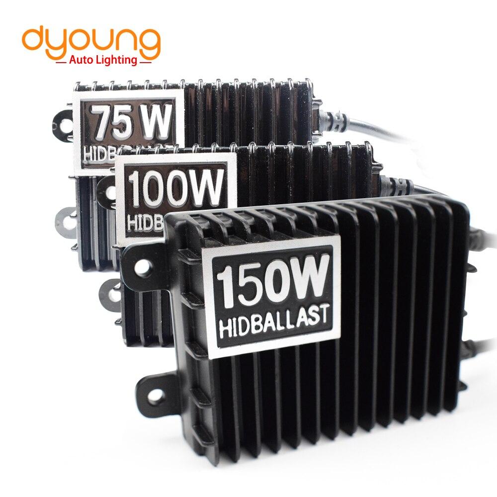 DYOUNG Auto Accessorie 75W 100W 150W HID Xenon Ballast For H1 H3 H7 H8/H9/H11 9005/HB3 9006/HB4 Xenon H7 Kit Xenon