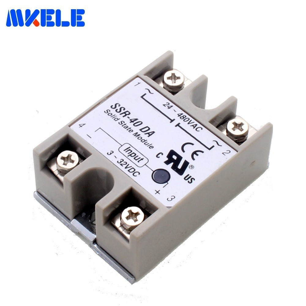 24v-380v 40a 250v <font><b>Ssr</b></font>-40da 3-32v Dc To Ac <font><b>Ssr</b></font>-<font><b>40</b></font> <font><b>Da</b></font> <font><b>Ssr</b></font> Soft Starting Electromagnetic Contact Relay Module Solid State Relay image