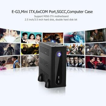 E-G3 PC Fall Mini ITX Computer Fall PC Chassis Für Universal Motherboard E-G3 Mini ITX Server Turm 6xCOM Port Embedded SGCC