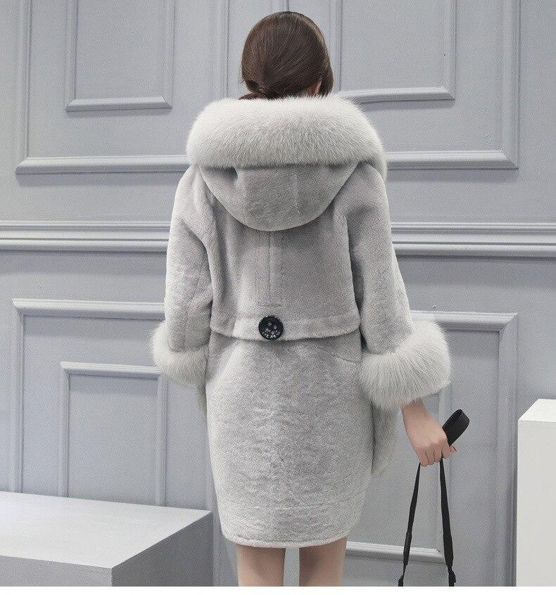 gray Femmes Hiver Artificielle 2018 Solide Survêtement Luxe Manteau De Chaud Élégant Xs Red Veste Chaquetas Faux Épais Fourrure 5xl Mujer 5wtqn5XH