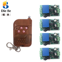 433MHz Universal Wireless Remote AC 110V 220V 1CH rf Relay and Transmitter Remote Control Garage/gate/Light/Fan/Home appliance wireless z wave 1ch gate garage door remote control switch ac 110v 220v 10a rf 2 transmitter and 10 receiver sku 5458