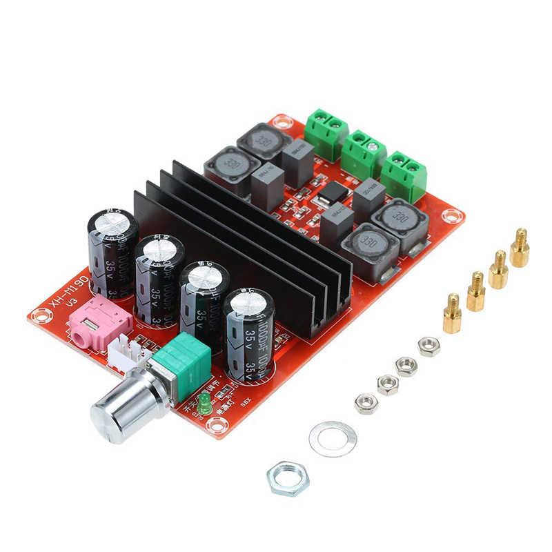 XH-M190 TDA3116D2 высокое Мощность цифровой усилитель доска TPA3116 два Каналы аудио модуль усилителя 12-24 V