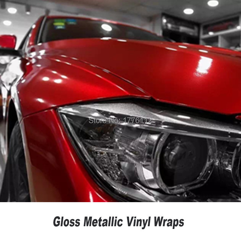 Red Gloss Candy Vinyl Car Wrap Styling With Air Free Full Shiny Red