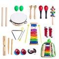 24Pcs Kinderen Vroege Educatief Muziekinstrument Speelgoed Carl voor Muziekinstrumenten Set voor Kinderen Leren Muziek Kits