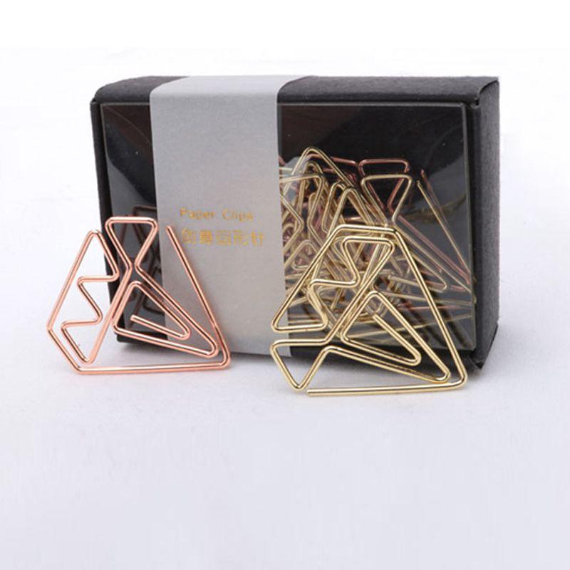 Nieuwe Aankomst Bookmark Diamant Clip Rose Gouden Clip Nietjes Briefpapier Bevriend Metalen Paperclip