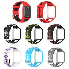 24cm High Quality Silicone Replacement Watchband Wrist Band Strap For TomTom 2 3 Runner 2 3  Adventurer GPS Watch Strap