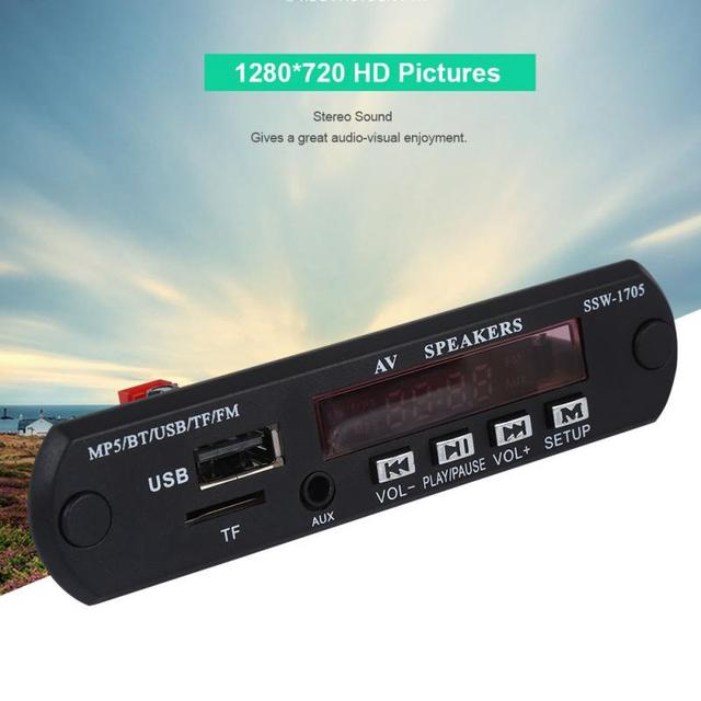 1280*720 HD MP5 נגן SSD סטריאו Bluetooth 4.2 MP5 נגן עם FM/AUX קלט/Spp מרחוק תמיכת שליטת APP