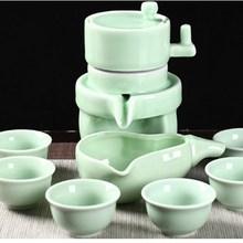 OUSSIRRO Retro stone grinding semi-automatic tea set creative lazy people ceramic Chinese kung fu infuser pot
