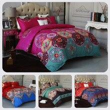 New Bohemian Colorful Duvet Cover Pillowcase Sheets Bedding Set Home Textile Endless Reactive Pringting Quilt