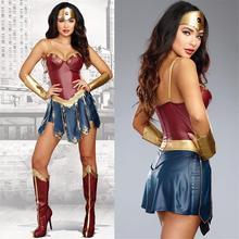 Deluxe Wonder Woman Diana Prince przebranie na karnawał świt sprawiedliwości Superhero Superwomen przebranie