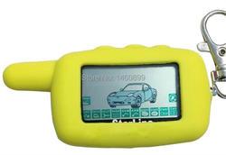 A9 2-way LCD Remote Control Keychain + Key Case For Russian Two Way Car Alarm System Starline Twage A9 A8 Key Chain Fob