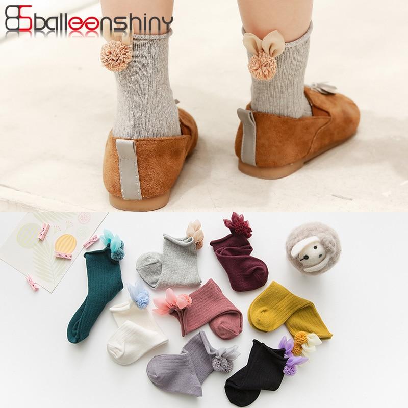 BalleenShiny Cartoon Rabbit Baby Girls Socks Cotton Autumn Winter New Soft Long Socks Child Kids Leg Warmers Socks For 1-5 Years