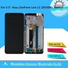"5.5 ""orijinal M & Sen Asus ZenFone canlı L1 ZA550KL X00RD LCD ekran çerçeve + dokunmatik Panel digitizer Asus ZA550KL LCD"